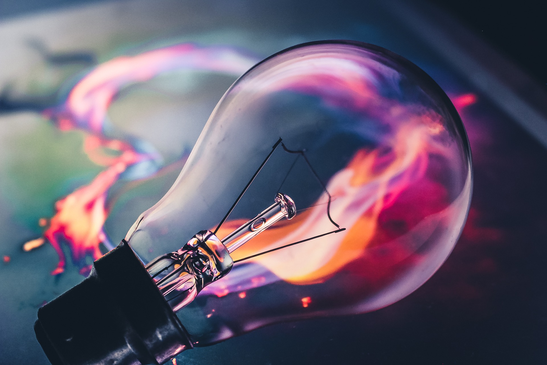 an image of a colorful light bulb